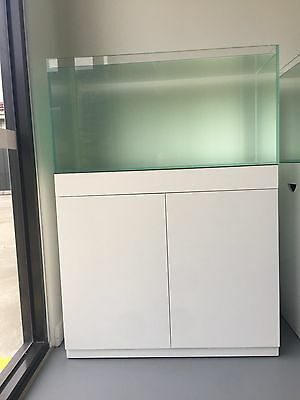 aquarium fish tank with glossy white cabinet (90cm)