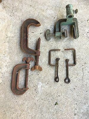 Vintage Antique Clamps Various Sizes