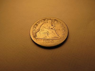 1856 SEATED LIBERTY QUARTER - Free Shipping