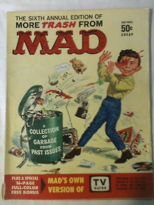 More Trash From MAD Magazine 1963 Annual 6 TV Guide Insert Day w/ JFK Parody FN