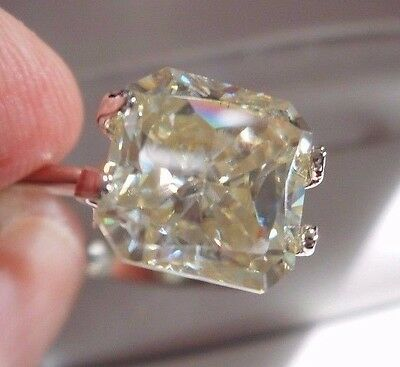 GRACEFUL! 2.48 ct 8.18X8.08 mm VS2 ICY ALABASTER WHITE LOOSE RADIANT MOISSANITE