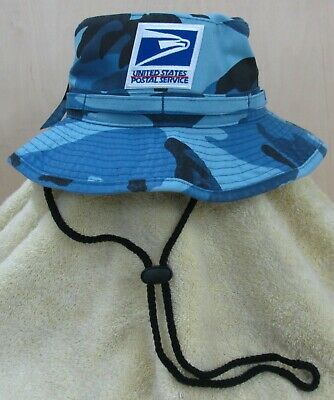 USPS Postal Service  Blue Camo Boonie/Safari/Bush Hat  Stonewashed cotton