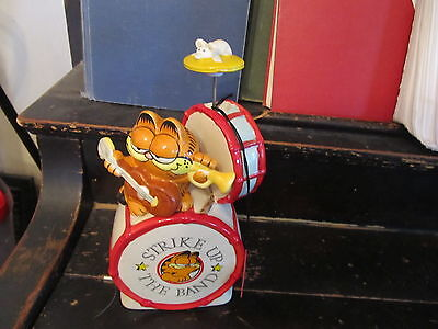 "1978 Garfield ""Strike up the Ban"" Music Box NICE WORKS WITH TAG"