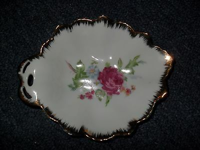 Vintage Napco Red Roses Porcelain China  Candy Dish