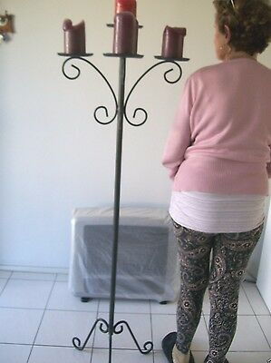 Modern & Decorative Cast Iron Look 6 Ft Tall Candle Stand & Holder