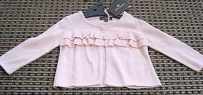 Floriane Baby Girls French Pink Frill Cardigan Sz 6 Months New With Tags