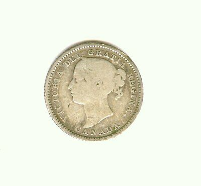 1887 Canada  10 Cents  Dime  Better Date                             C
