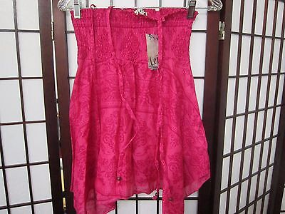 GIRLS FishTail Top Pink Size S with Elastic top New w/Tags Super Fast Shipping