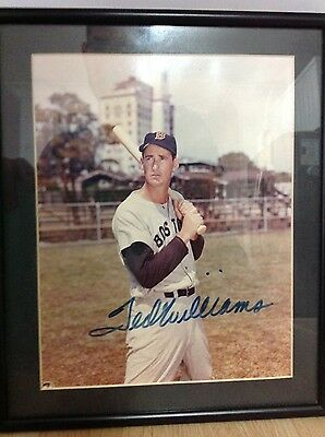 Ted Williams Signed Framed Photo COA