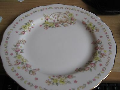 "Royal Albert Zodiac Series Plate ""Aries"""