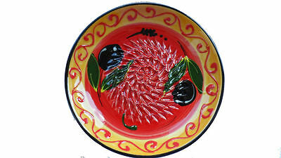 Spanish hand painted garlice grater place - various designs