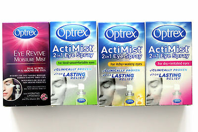 Optrex ActiMist 2in1 Eye Spray - 10ml fast relief 100 sprays