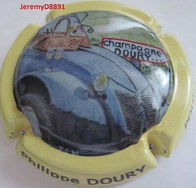 Capsule de champagne Doury Philippe 2 CV N°100a Ctr Jaune