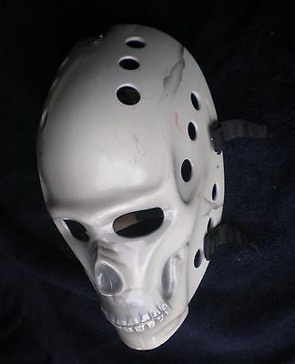 Vintage Style Skull Custom Fiberglass Nhl Hockey Goalie Mask One Of A Kind!