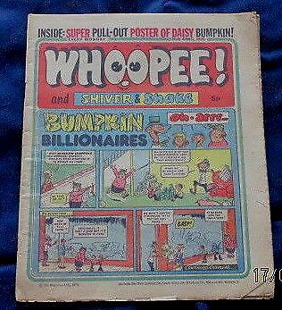 Whoopee Comic 26th April 1975 c/w pull out poster