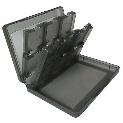 28 in 1 Game Card Case Holder Black Cartridge Storage Box for Nintendo 3DS DD