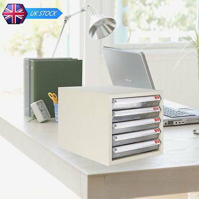 Home Office 5 Drawers A4 File Storage Cabinet Business Cards Holder Organizer