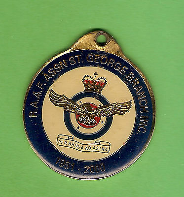 #d304.  Royal  Australian Airforce Raaf Assoc. St George Branch Keyring Tab 2000