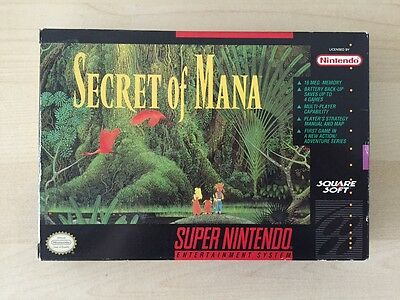 Secret of Mana - SNES Super Nintendo - US NTSC - box and inlay only