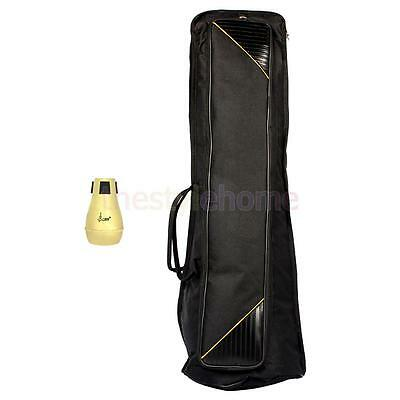MagiDeal Trombone Sordine & Carry Bag Case Musical Instrument Accessory