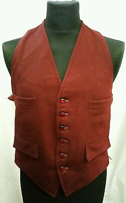 """Mens Vintage Wool Waistcoat Size 42"""" Chest Approx"""