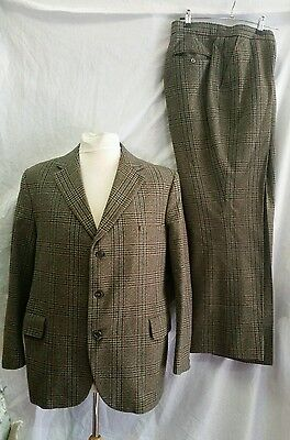 """Mens Guards Two Ply Twist Thornproof Tweed Suit Size 42"""" Chest Approx"""