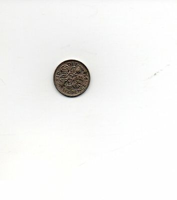 1959 Queen Elizabeth II Sixpence 6d coin - Circulated
