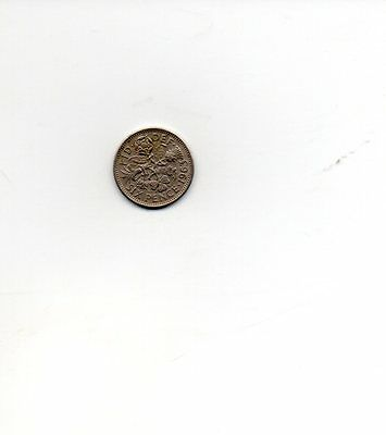 1963 Queen Elizabeth II Sixpence 6d coin - Circulated