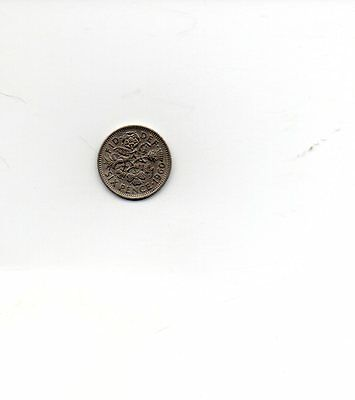 1960 Queen Elizabeth II Sixpence 6d coin - Circulated
