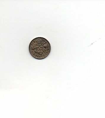 1958 Queen Elizabeth II Sixpence 6d coin - Circulated