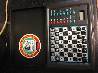 travel chess Systema Meteor 72 Level Electronic Chess Computer