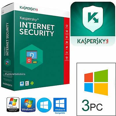 Kaspersky Internet Security 3PC 2017 1 ANNO - 365 GIORNI