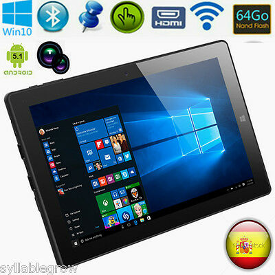 "10.1"" CHUWI HI10 Tablet PC Windows10 4GB/64GB Intel Quad Core WiFi BT 2Cámara EU"