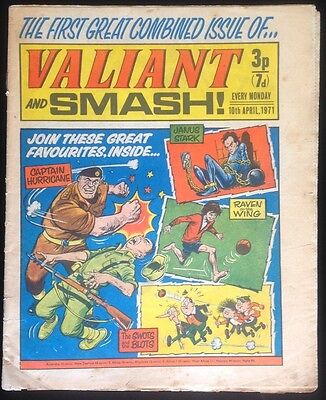 Valiant and Smash! 10th April 1971 - First Combined Issue!