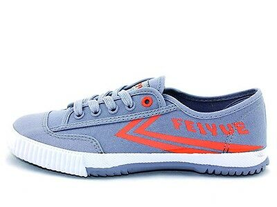 Kung Fu Wushu Shoes Feiyue Shaolin Grey and Orange