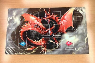 F1839# Free Mat Bag Slifer the Sky Dragon Yugioh TCG CCG Custom Playmat Layout