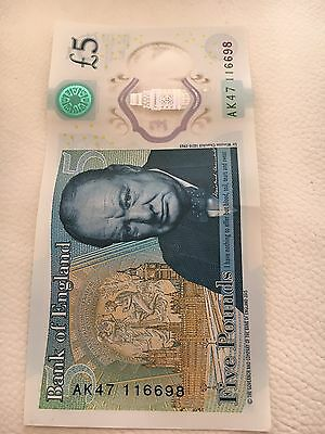 AK47 £5 pound note.  Serial number 116698