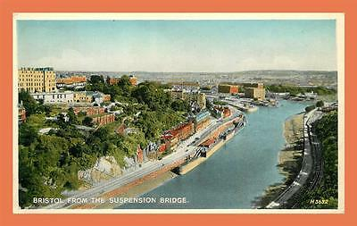 a458 / 295  BRISTOL from the suspension bridge ( timbre )