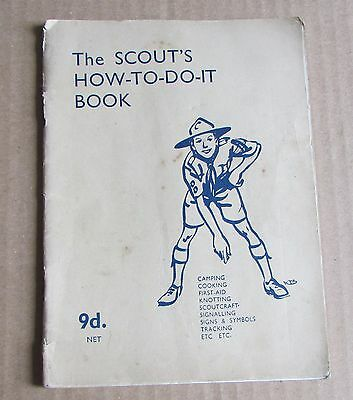 WW2 1944 Boy Scouts How To Do It Booklet - Camping Knotting Scoutcraft Cooking