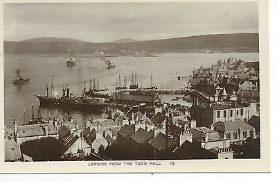 Real photo postcard of Lerwick from the Town hall Shetland,Scotland Ramsay photo