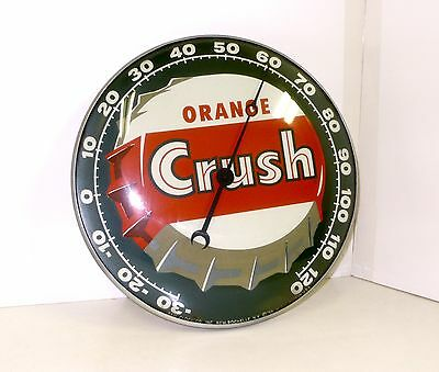 Vintage PAM Orange Crush Soda Pop Thermometer Advertising Sign Drugstore EXC++