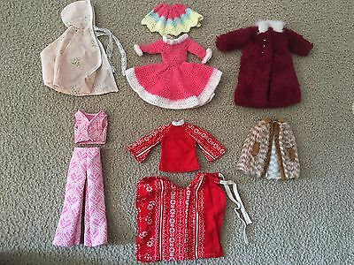 Vintage Barbie Jackets/hooded Cape/dress  Lot Of 9 Pieces, Complete