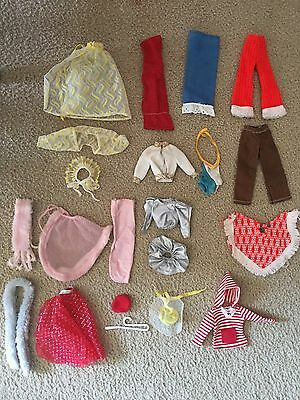 Vintage Barbie Hooded Capes/pants/scarves/hats/skirts  Lot Of  20 Total Pieces