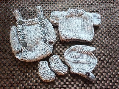 Hand Knitted Dolls Outfit 10-11 In Reborn/ooak