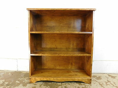Vintage Excellent Solid Burl Maple Open Bookcase Mid Century Traditional