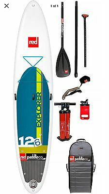 Red Paddle 12'6 Explorer Inflatable Stand Up Paddle Board 2017