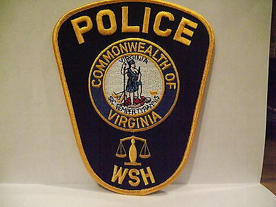 police patch  WESTERN STATE HOSPITAL POLICE VIRGINIA