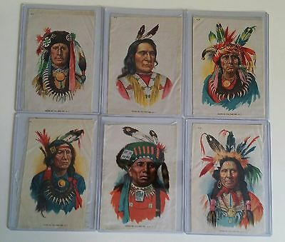 105 yr. old Indian Tobacco Silks LARGE full complete set of 6 !!!