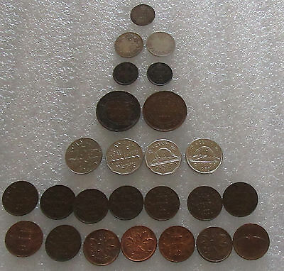 Lot of Old Canada Coins Various Denominations * Old Canadian Coins