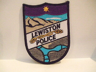 police patch   LEWISTON  POLICE IDAHO